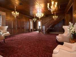 The grand entrance sets the tone of the lavish home.