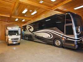 This property even has an RV garage. For more information on this tasteful, rustic mansion visit Realtor.com.