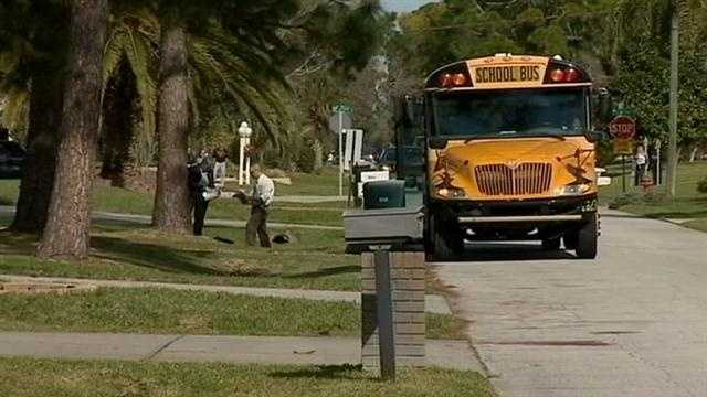 Investigators say a student claimed to have a bomb in his backpack while on board a school bus in Edgewater Monday morning.
