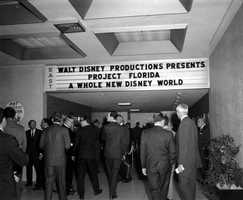 Walt Disney died in 1966, and his brother Roy took over the task of making Disney World in Central Florida a reality. Roy Disney held a presentation at the Park East Theatre in Winter Park on Feb. 2, 1967, to discuss the future of the project.