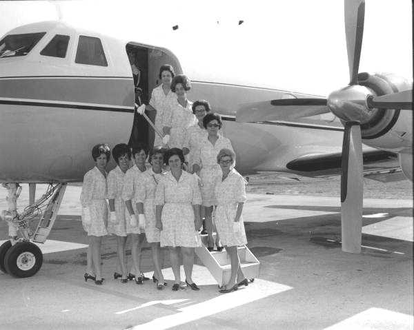 Disney World trip hostesses pose for a picture on Jan. 28, 1970.