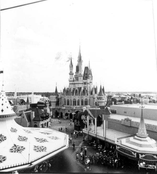 Cinderella Castle in 1971.