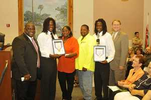 """Shaquem Griffin and Shaquill Griffin were awarded the """"On Top of Your Game"""" Award  by the City of St. Petersburg in 2012."""