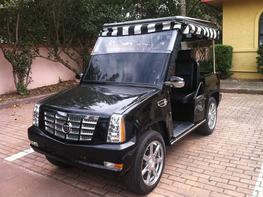 The Villages community in Sumter County is known for its unique and extravagant golf carts.  Flip through to see home of the most unique.