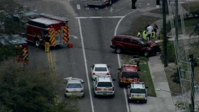 A school bus and SUV were involved in accident Thursday afternoon, seriously injuring one person.