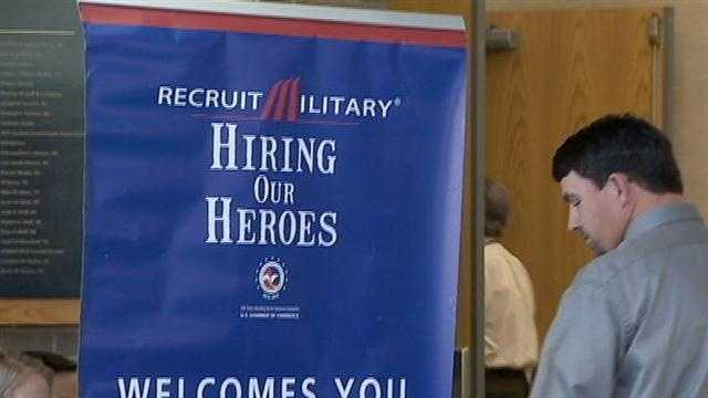 A job fair aiming to put veterans and their spouses to work in Orange County was held Thursday.