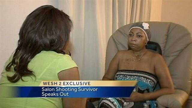 A victim of a mass shooting at a Casselberry salon talks about her recovery.