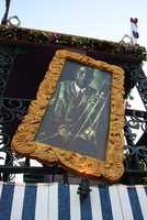 The float pays tribute to jazz musician Louis Armstrong, who is from New Orleans.