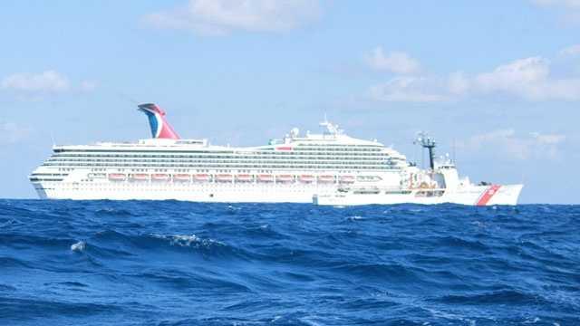 Carnival cruise ship stranded