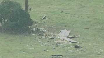 Officials in New Smyrna Beach said a plane crashed into a pasture Wednesday afternoon.