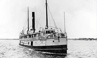 The twin-screwed freight and passenger steamer Tarpon was constructed in 1887 and was originally named Naugatuck.