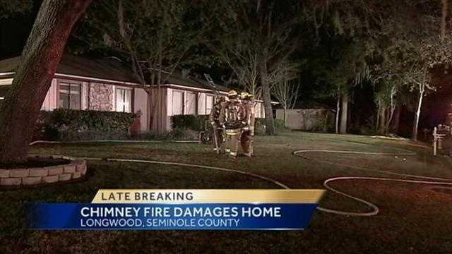 Chimney fire damages home