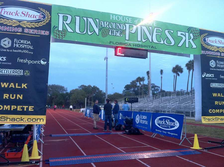 WESH 2's Michelle Meredith took part in the House of Hope Run Around the Pines 5K on Saturday. Take a look at her pictures.