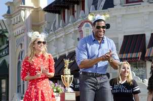 Kelly Ripa and Michael Strahan joined Mickey Mouse in the Magic Kingdom on Monday and Tuesday.
