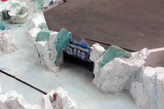 This section of the model shows the location of the gift shop.