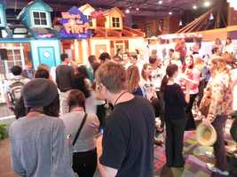 Student's from Orlando's University High School were among the first to tour the new exhibit.