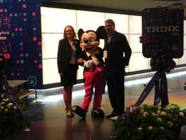 Even Mickey Mouse was on hand for the THINK unveiling.