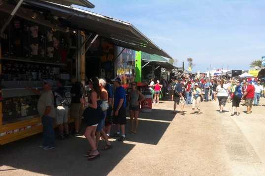 NASCAR fans packed Daytona on Thursday to buy souvenirs and watch the Budweiser Duel.