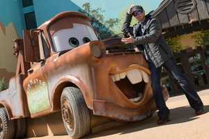 """Busch joked that when he saw Tow Mater from """"Cars,"""" that he was no stranger to tow trucks following the weekend's series of practice sessions and races in Daytona Beach, in which he was involved in some wrecks."""