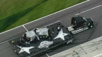 Neither NASCAR nor Daytona International Speedway officials had any immediate details on injuries in the accident.