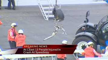 """""""There obviously was some intrusion into the fence and fortunately with the way the event is equipped up, there were plenty of emergency workers ready to go and they all jumped on it pretty quickly,"""" NASCAR President Mike Helton said."""