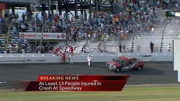 """As emergency workers tended to injured fans, a somber race winner, Tony Stewart, skipped the traditional post-race victory celebration. """"We've always known, and since racing started, this is a dangerous sport, but it's hard. We assume the risk, but it's hard when the fans get caught up in it,"""" Stewart said."""