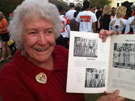 Flora's twin brothers were part of the men's swim team to win the high school's first state championship in 1939.