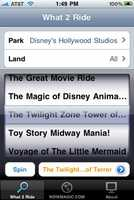 WDW What-2-Ride Walt Disney World Edition (iOS) – Need help deciding what to ride at Disney World? Maybe you've never been and are overwhelmed by the options, or maybe you're a seasoned vet and can't make up your mind. This app tells you what to ride!iTunes: 442 ratings (3.5 stars)