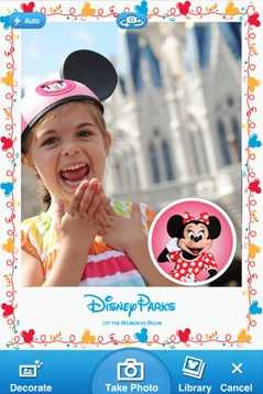 Disney Memories (iOS, Android) – an official Disney app that let take photos and decorate them Disney-style.iTunes: 149 ratings (3 stars)Google Play: 308 ratings (4 stars)