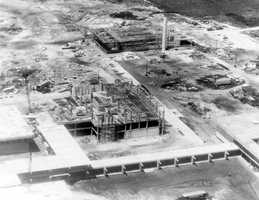 Florida Atlantic University opened in Boca Raton in October of 1964.  This picture shows the construction of the university in 1963.