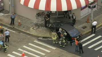 A car hit the Anh Hong restaurant on Colonial Drive and Mills Avenue on Tuesday.