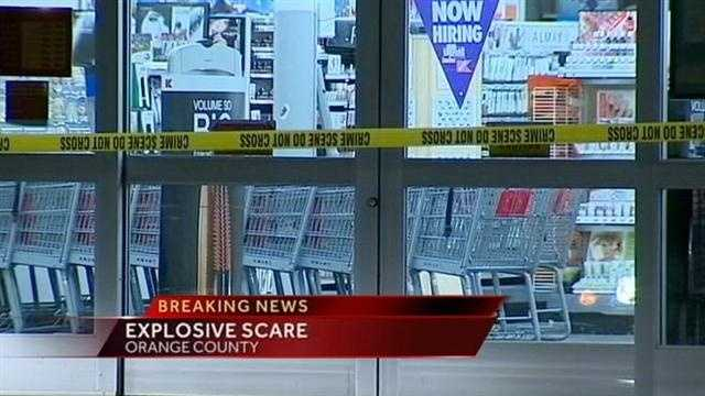 a prank at a local store leads to an explosive scare.