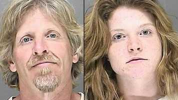 Marvin Canter, 49, and Ashley O'Rourke, 21, face counterfeiting charges.
