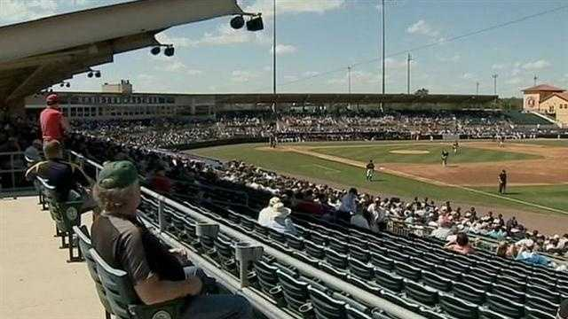 Turn styles are humming as spring training crowds are breathing new life into stadiums such as Osceola Stadium in Kissimmee, where the Houston Astros hosted the New York Yankees on Thursday.