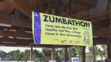 The Zumbathon took to Daytona Beach Shores on Sunday.