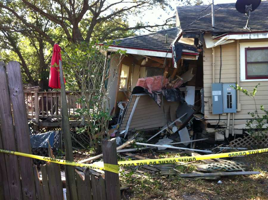 A garbage truck crashed into an Orange County home Thursday morning and caused structural damage to the house, officials say.