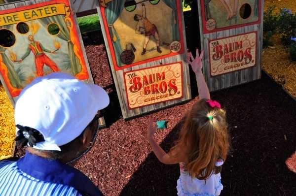 """The Land of Oz Garden is one of the biggest single areas we've ever created for the Festival,"" said horticulturist Eric Darden. ""It starts in the 'Kansas' section, where kids can play midway games in the tents."""