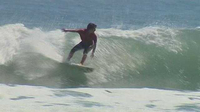 Longtimers said they can't remember the last time Cocoa Beach seen the combination of perfect weather, a big surfing event and big waves.