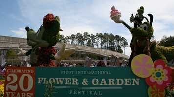 "There are more than 100 topiaries at this year's Flower & Garden festival at Walt Disney World's Epcot, including 18 ""living sculptures"" modeled after Disney characters."