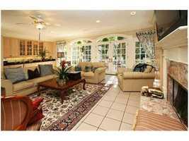 Comfortable, yet stylish living room area.
