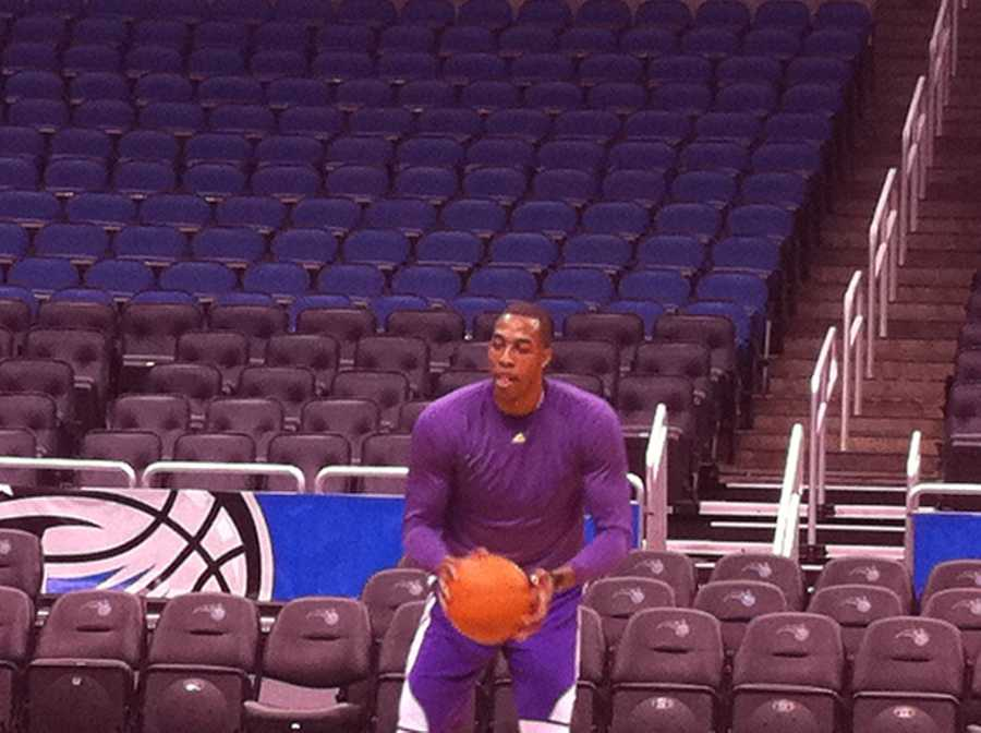Dwight Howard will return to the Amway Center for a Magic-Lakers match-up Tuesday night.