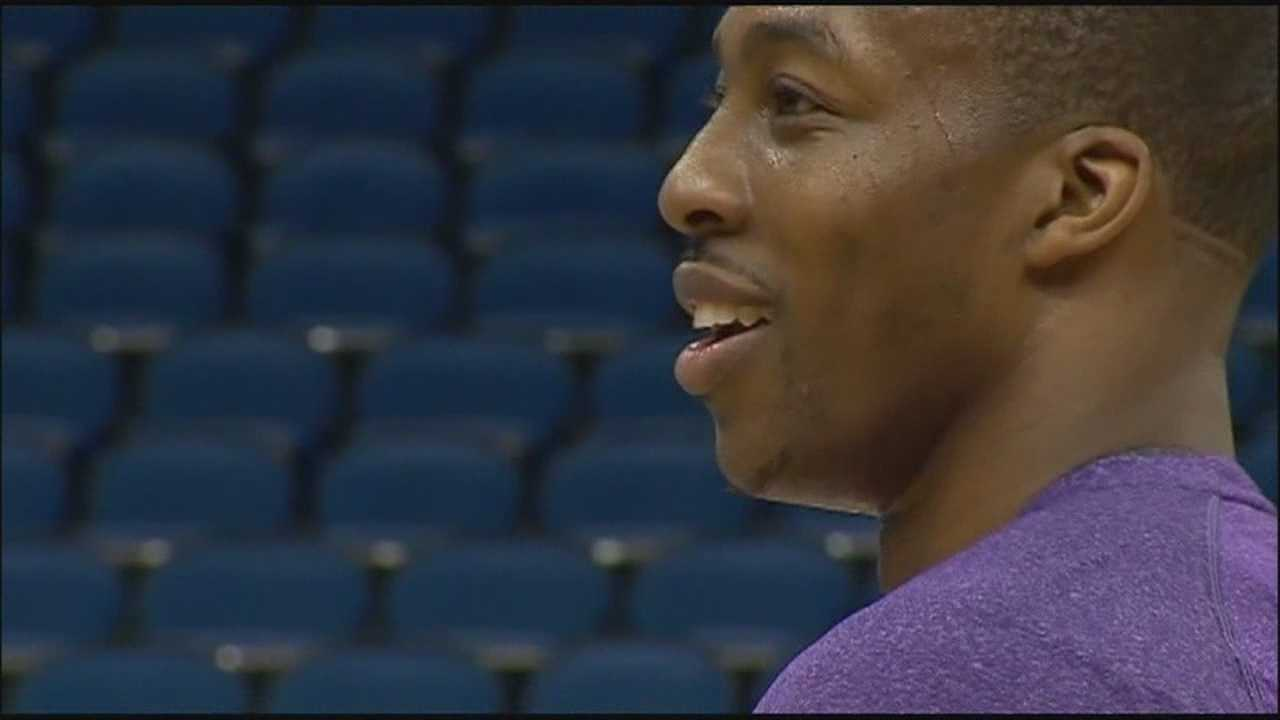 Dwight Howard gives message to Orlando before game