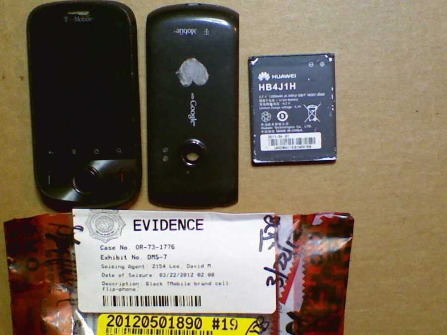 In the last few months, investigators examined and pulled evidence from Martin's black T-Mobile Android phone
