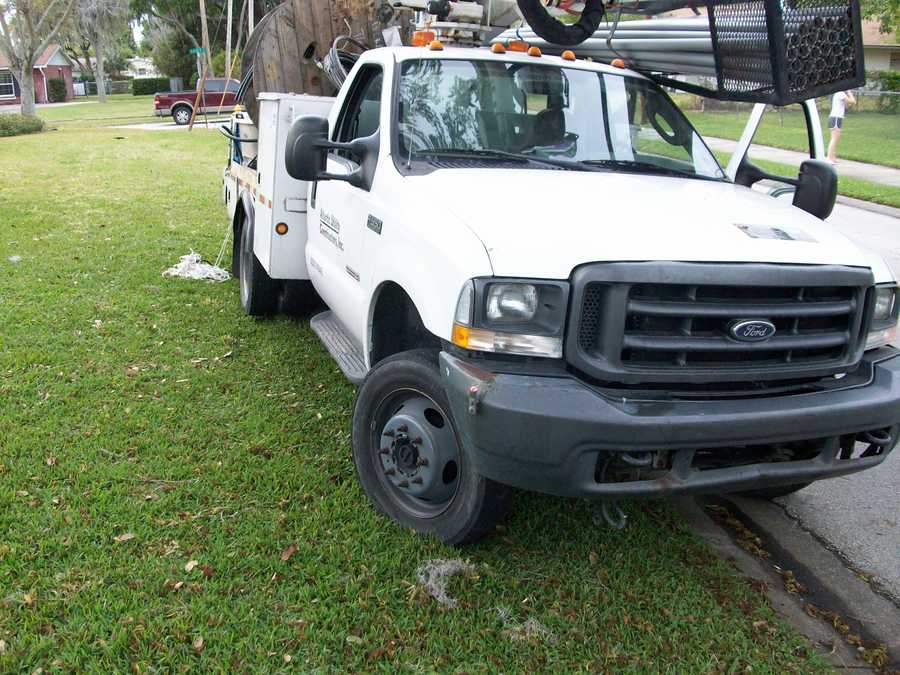 Officers in South Daytona said a subcontractor for Florida Power & Light was driving drunk on the job.