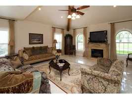 This room features the second fireplace in the home.