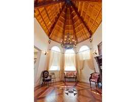 Beautiful wooden, vaulted ceilings.