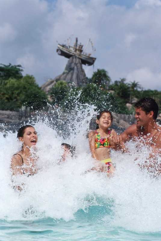 The Surf Pool at Disney's Typhoon Lagoon Water Park provides the prefect refresher for kids, families and guests of all ages at Walt Disney World Resort.