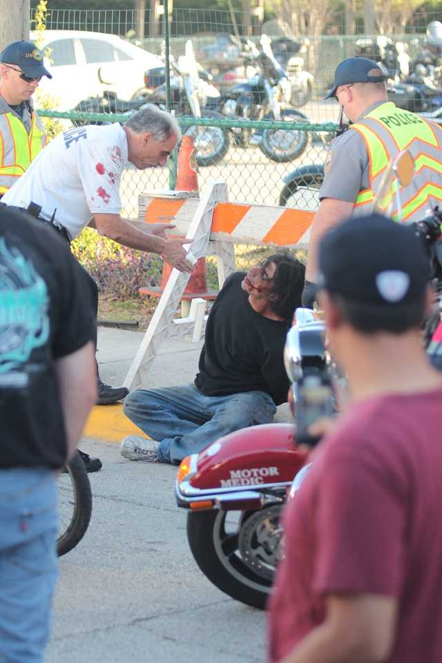 Daytona Beach Police Chief Mike Chitwood is working while he recovers from an attack that happened during a Bike Week event over the weekend.