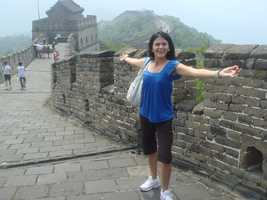 She walked a portion of the Great Wall of China in 2008 ...