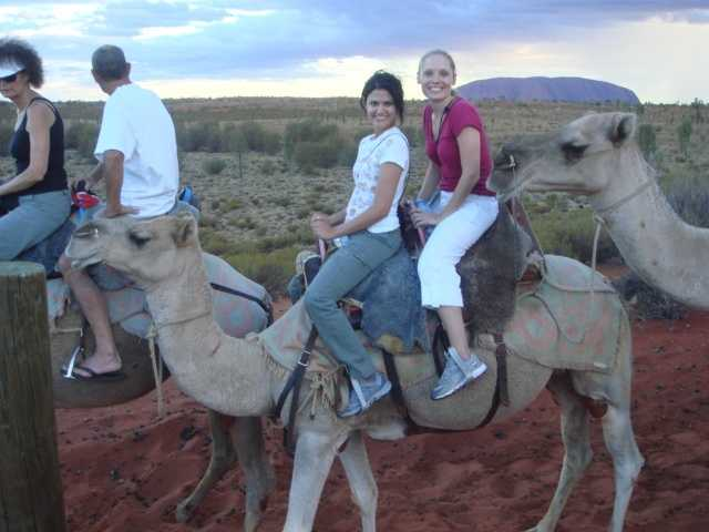 Aixa rode a camel in the Australian desert on her 27th birthday!